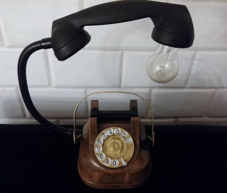 teleLAMPAfon - aJron 45': styl , w kategorii Sypialnia zaprojektowany przez RefreszDizajn