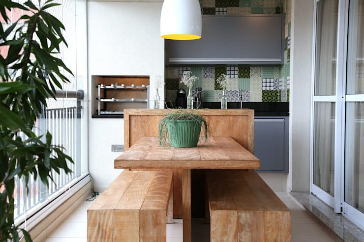Vila Mascote III: Terraços  por MeyerCortez arquitetura & design