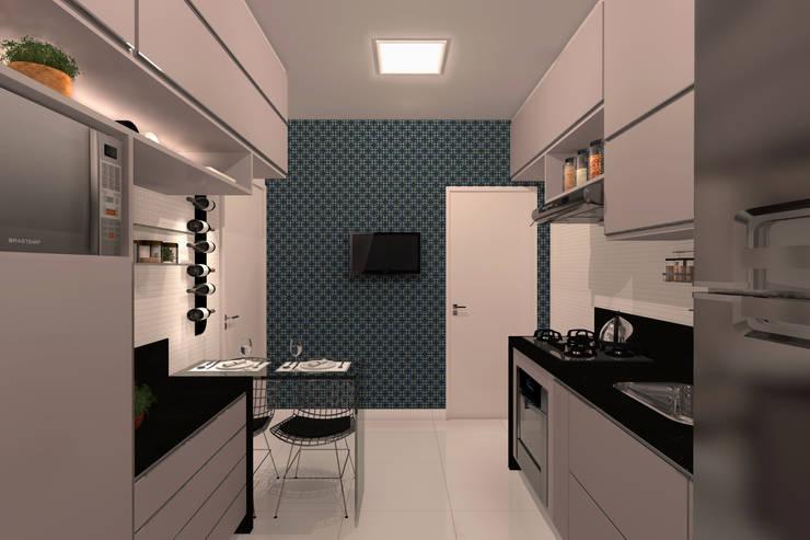 Cozinha - RJ: Cozinhas  por Konverto Interiores + Arquitetura
