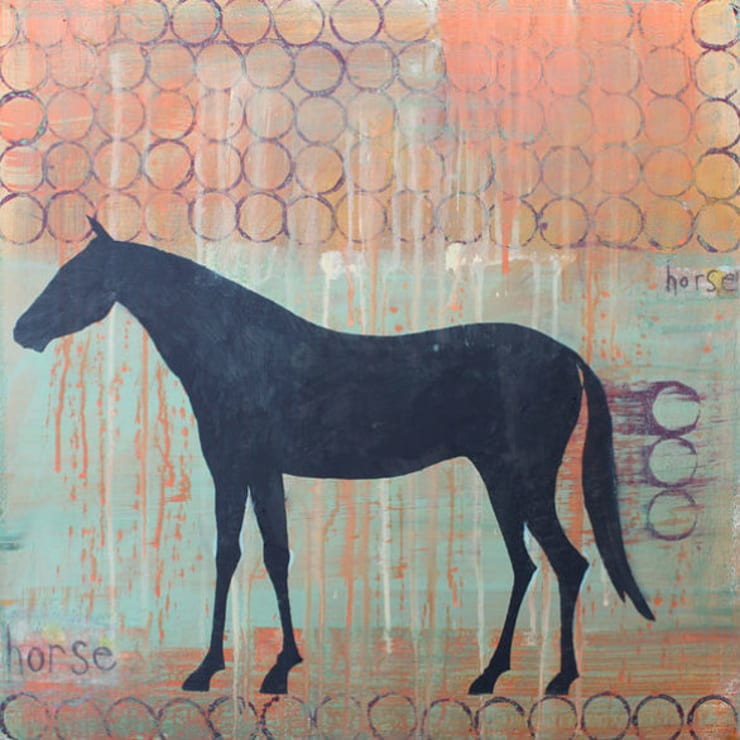 Horse:  Artwork by Clare Haxby Art Studio