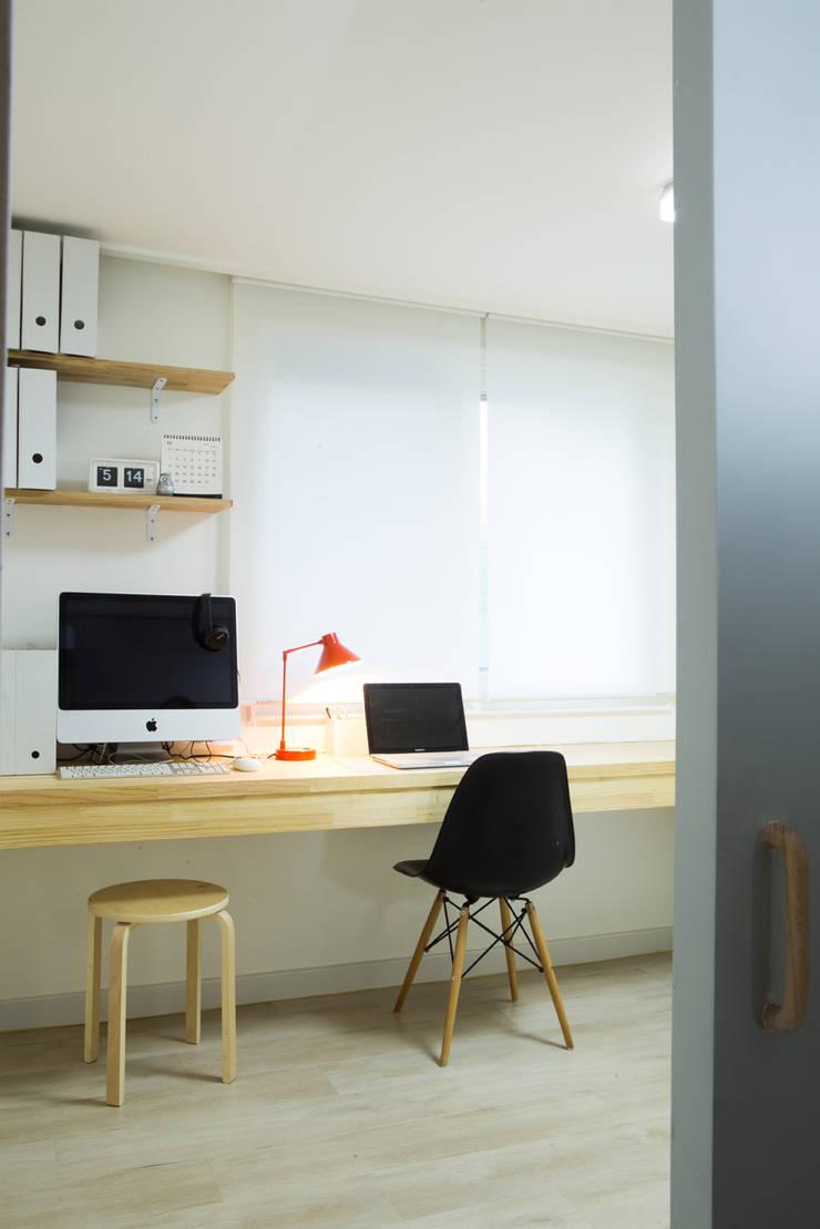 The Diagonal Line _평창동 빌라: 지오아키텍처의  서재 & 사무실,모던
