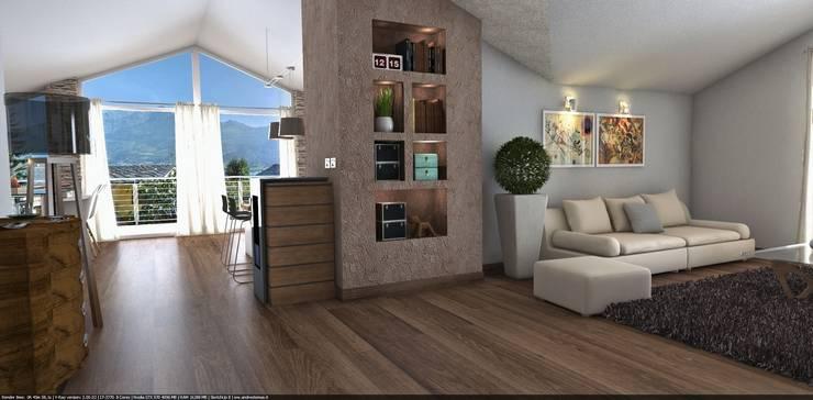 RENDER INTERNI 01: Camera da letto in stile in stile Moderno di Tomas Andres