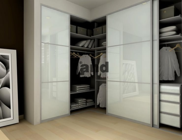 ddonmez – Parlak Beyaz Raylı Dolap Land.:  tarz Giyinme Odası