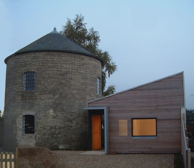 Albion Mill - Extension and mill exterior:  Houses by Syte Architects