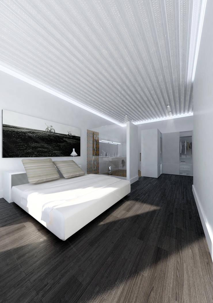 Habitación principal: Dormitorios de estilo  de lacooperativaarquitectos