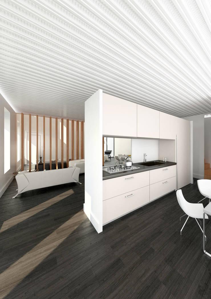 Cocina integrada: Cocinas de estilo  de lacooperativaarquitectos