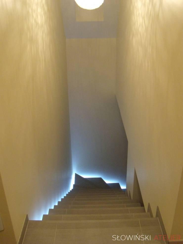 Segment w Łodzi: styl , w kategorii Korytarz, przedpokój zaprojektowany przez Atelier Słowiński