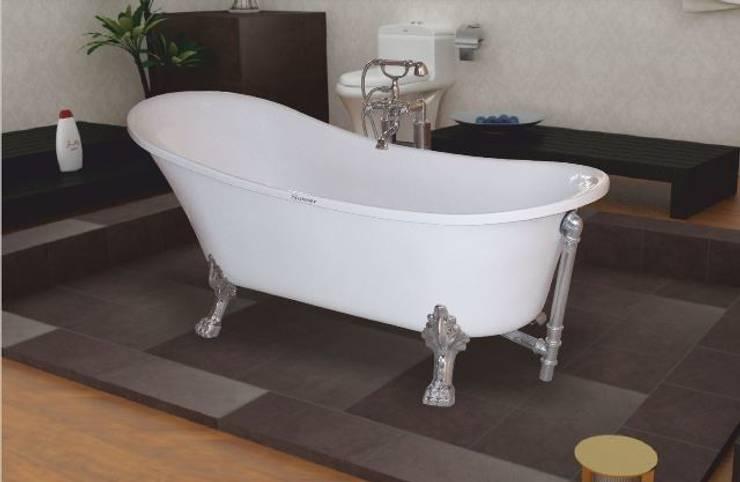 Yapıes Banyo – Krom Ayaklı Küvet:  tarz Banyo