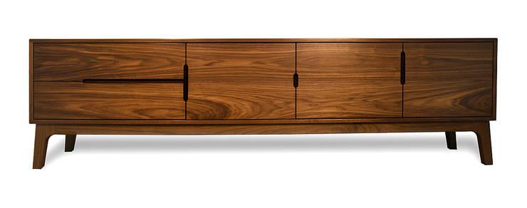 ES Sideboard Credenza:  Living room by AFID Design