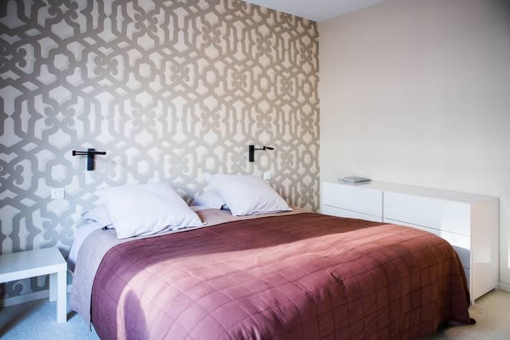 Déco colorée : le lilas dans la chambre à coucher