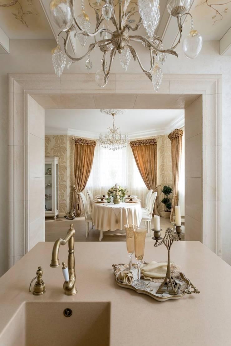 Столовая:  в . Автор – Архитектурно-Строительная Компания 'SM-Home'