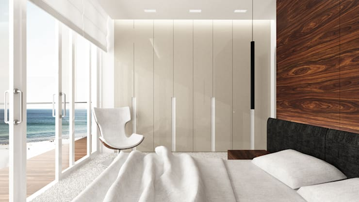 Minimalist bedroom by living box Minimalist