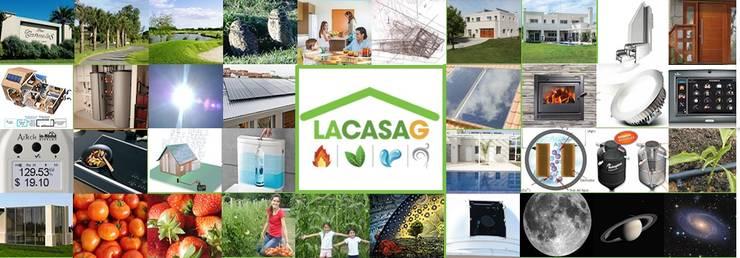 Casas de estilo  por La Casa G: La Casa Sustentable en Argentina, Moderno
