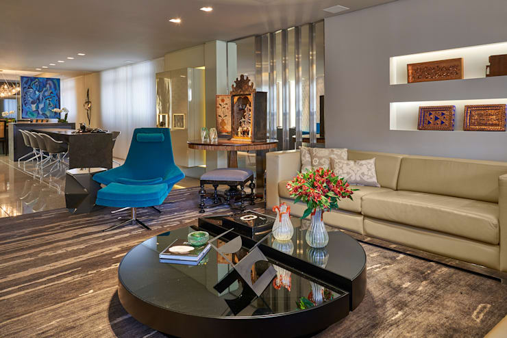 Gislene Lopes Arquitetura e Design de Interiores: modern tarz Oturma Odası