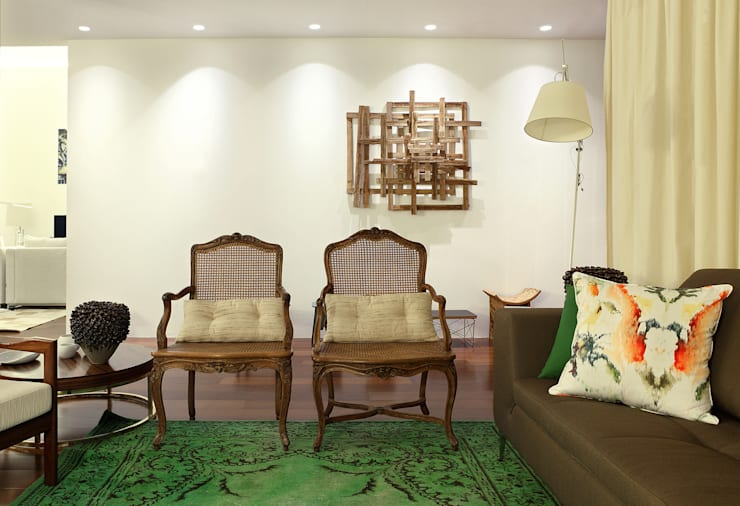 colonial Living room by Tiago Patricio Rodrigues, Arquitectura e Interiores