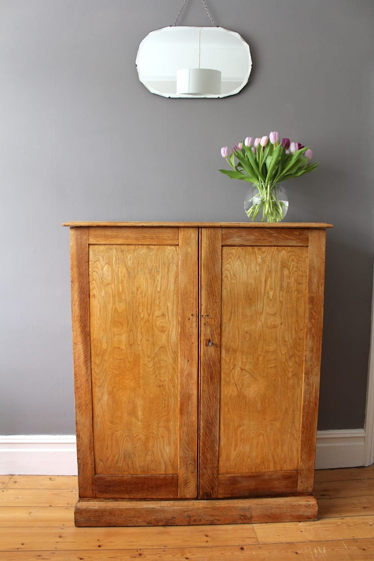 1930s vintage oak school cupboard:  Household by Owl and the Elephant