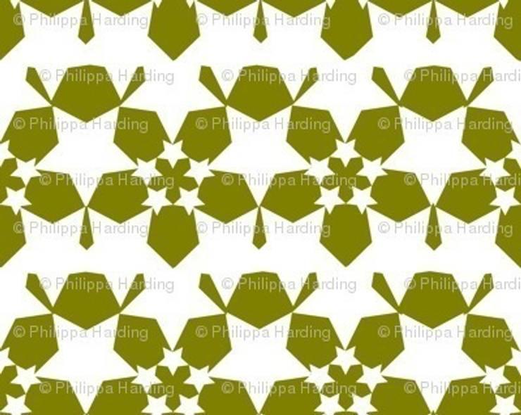 Starflower Reverse - Moss :  Walls & flooring by Court & Spark
