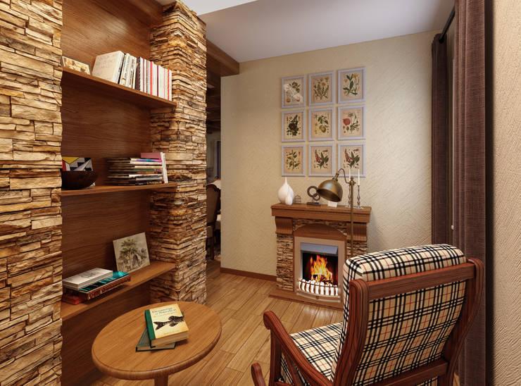 домик в стиле шале: Коридор и прихожая в . Автор – Дизайн студия Асфандияровой Лилии