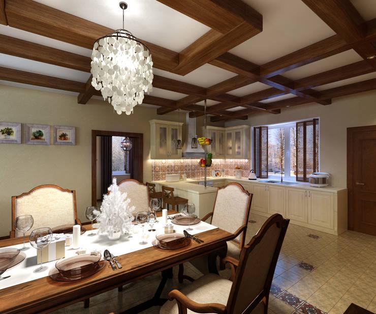 домик в стиле шале: Кухни в . Автор – Дизайн студия Асфандияровой Лилии