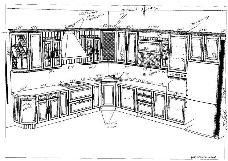 Неоклассика в кухне и гостиной:  в . Автор – Москоу Дизайн