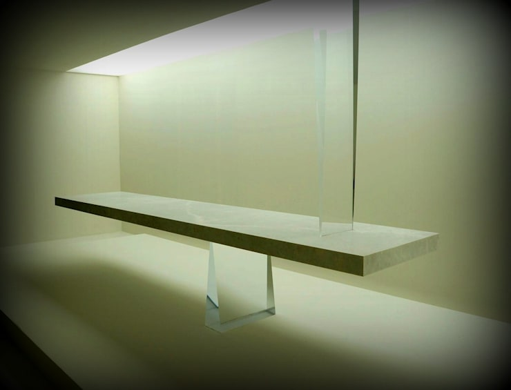 Lamına Stone – Marble Agravic Table with Aluminum Honeycomb:  tarz Ofisler ve Mağazalar