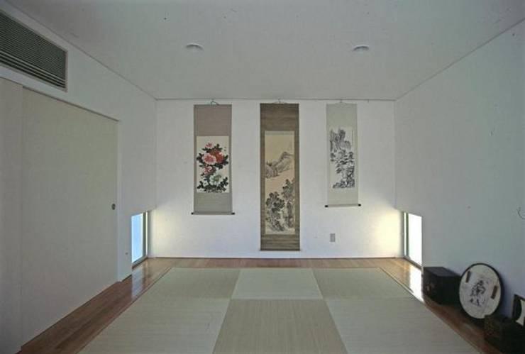 Electrónica de estilo  de 三浦尚人建築設計工房, Moderno Caliza