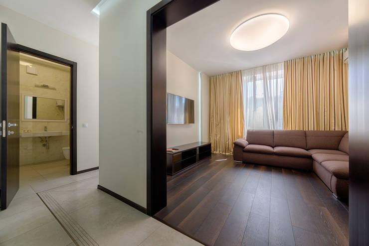 Интерьерная фотосъемка квартиры: Гостиная в . Автор – Platon Makedonsky