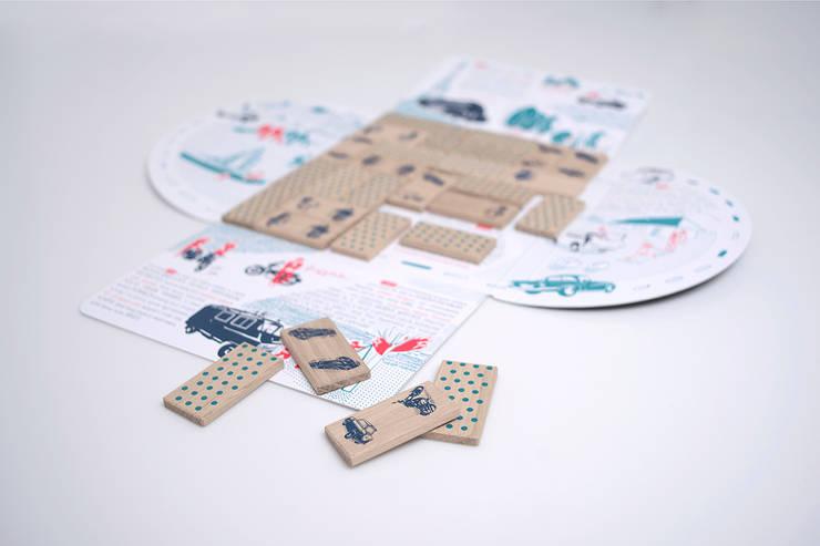 """Domino """"Na kołach"""": styl , w kategorii Pokój dziecięcy zaprojektowany przez Smaga Projektanci"""