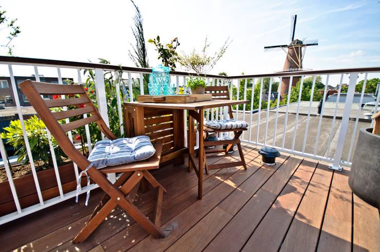 Dakterras hardhouten Jatoba vloer (glad) Moderne tuinen van Renoparts Vianen B.V. | Uw Dakterras Specialist Modern