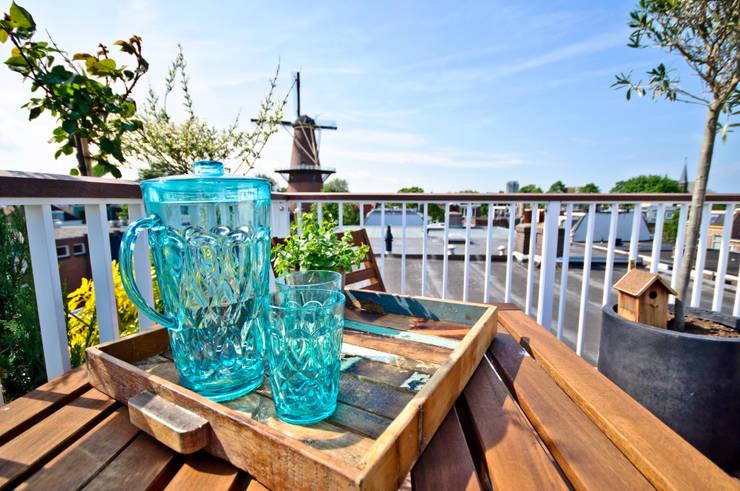 Uitzicht op molen Utrecht:  Tuin door Renoparts Vianen B.V. | Uw Dakterras Specialist