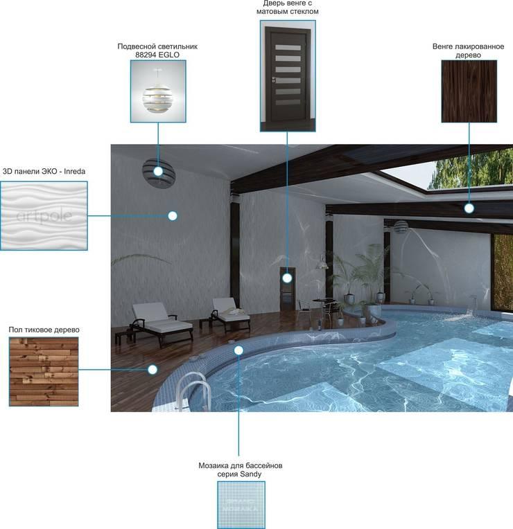 Визуализация бассейна.: Бассейн  в . Автор – Москоу Дизайн