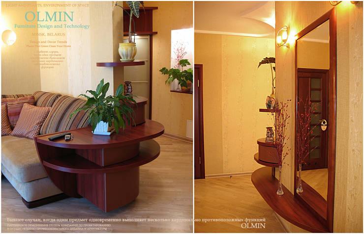 Объединяющий фактор: Гостиная в . Автор – ИП OLMIN - Архитектурная студия Олега Минакова