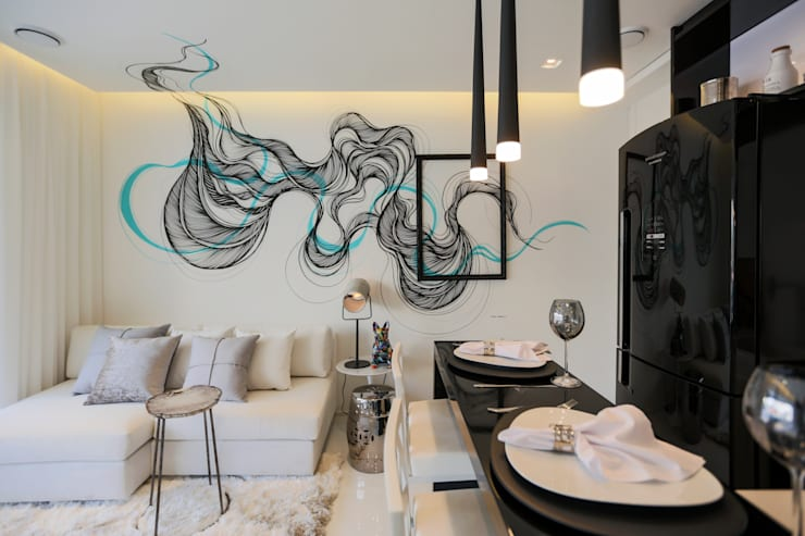 Salas de jantar  por Chris Silveira & Arquitetos Associados