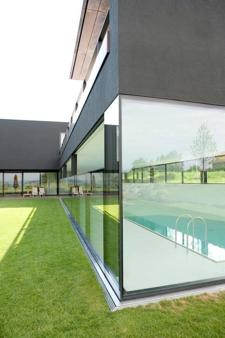 Descender Fronts - glass/glass corner fully raised:  Windows & doors  by Descender Fronts by Kollegger