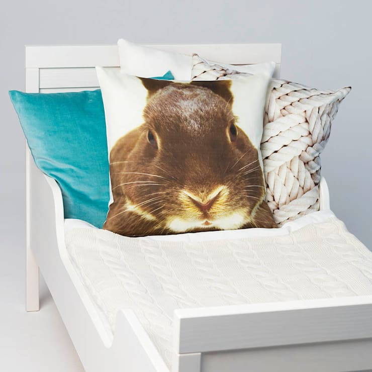 Poduszka Królik: styl , w kategorii Sypialnia zaprojektowany przez Makalulu