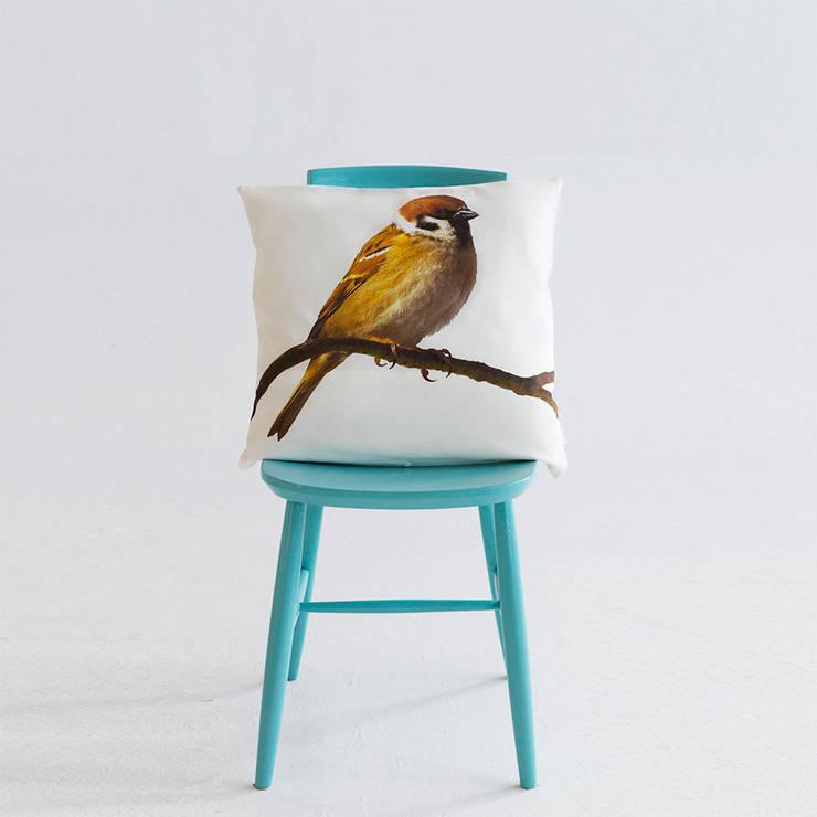 Poduszka Ptak: styl , w kategorii Sypialnia zaprojektowany przez Makalulu