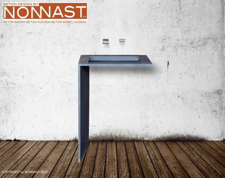 Bathroom تنفيذ Beton Design By NONNAST