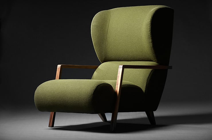 Papa Chair:  Living room by Archer + Co