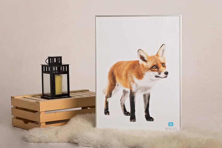 Plakat Lis: styl , w kategorii Ściany i podłogi zaprojektowany przez Makalulu