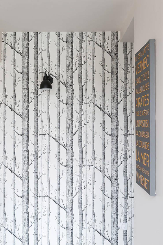 Triplex Ile de la Jatte: Couloir et hall d'entrée de style  par am alexandra magne
