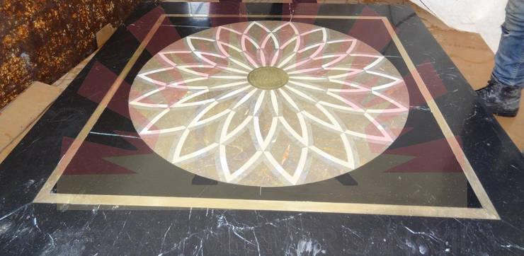 Reyhan Mermer Sanayi Ltd. – Circular Marble Medallion:  tarz Sanat