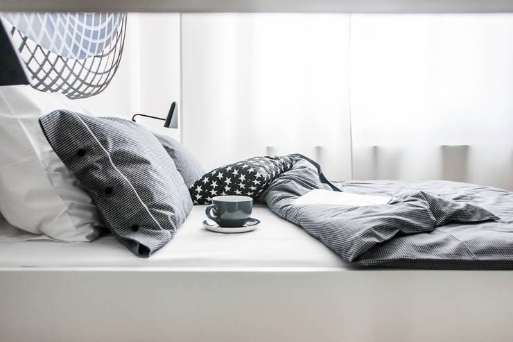 Komplet pościeli Chocolat: styl , w kategorii Sypialnia zaprojektowany przez Lilla Sky