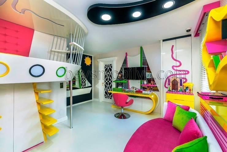 Akabe Mobilya San ve Tic. Ltd. Şti – Özel  Genç Odası Tasarım ve Uygulama (Kişiye Özel Tasarım):  tarz Çocuk Odası