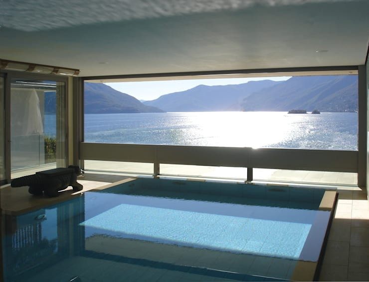 Descender Front at a Villa in Ascona, Switzerland:  Houses by Descender Fronts by Kollegger