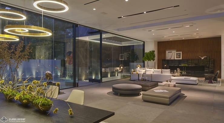 private residence -dramatic glass home :  Dining room by CLASS APART (furniture.interiordesign)
