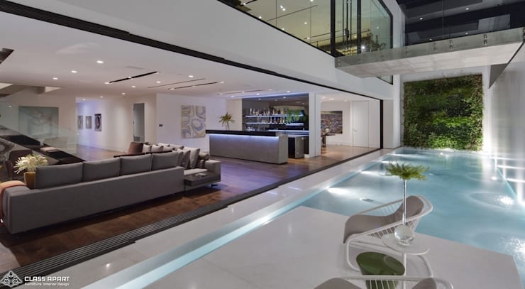 private residence -dramatic glass home :  Wine cellar by CLASS APART (furniture.interiordesign)