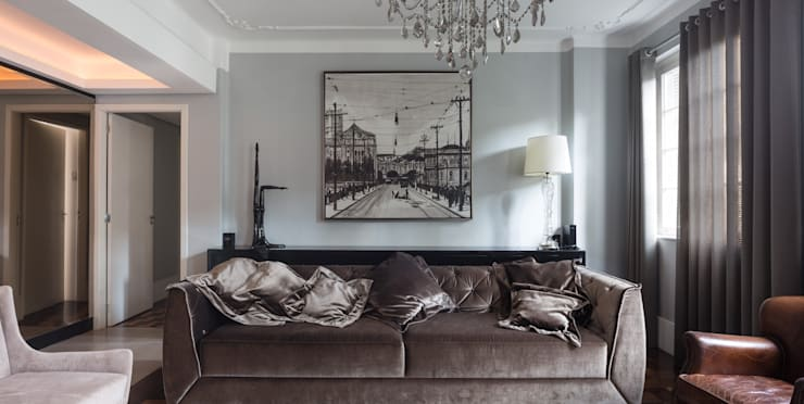 ACT | Estar: Salas de estar  por Kali Arquitetura