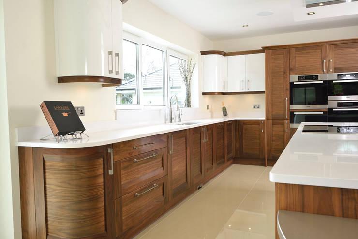 Mr & Mrs Broomhead Walnut & White Gloss Kitchen:  Kitchen by Room