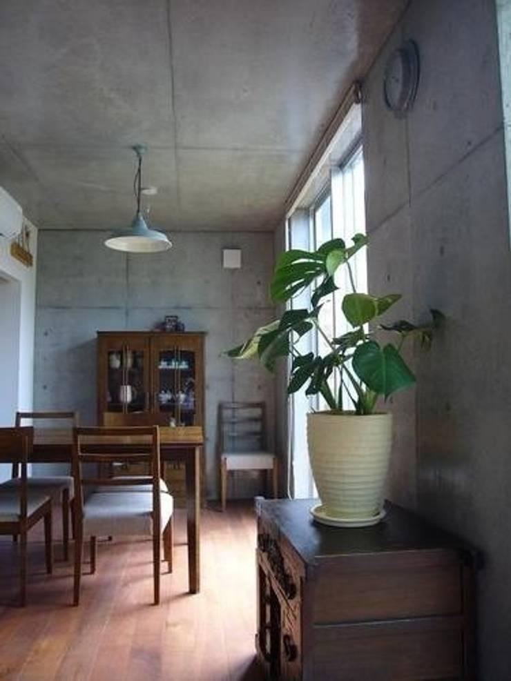 中庭と坪庭のあるガレージハウス: 三浦尚人建築設計工房が手掛けたダイニングです。,