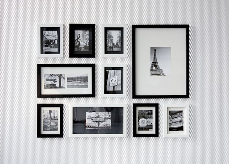 PHOTOWALL GALLERY FRAME 10P SET - Black&White MIX: A.MONO Co,.LTD.의  벽 & 바닥